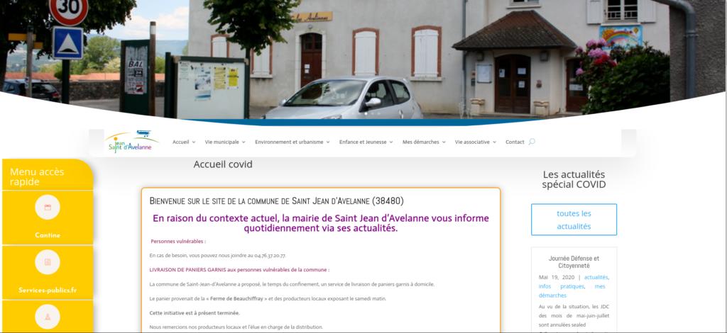 site de la commune de Saint Jean d'Avelanne