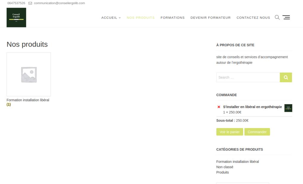 Boutique de vente en ligne Conseil Ergolib