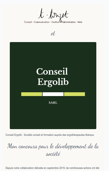 partenariat avec Ergolib